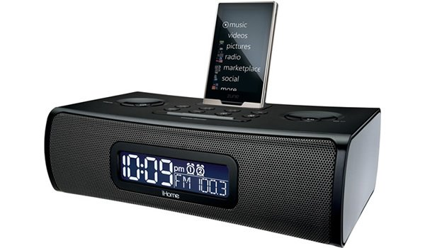 Dock con alarma iHome ZN90B para Zune