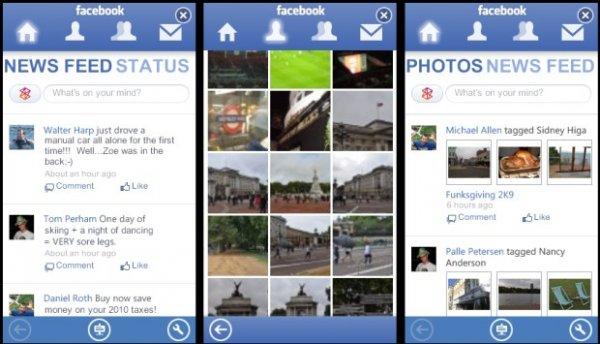 Facebook para Zune HD
