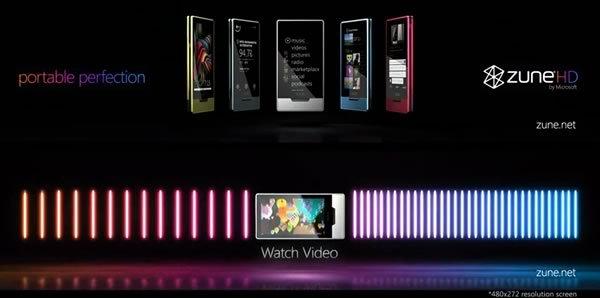 Publicidad de Zune HD