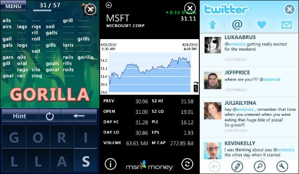 Nuevos MSN Money y Animalgrams para Zune HD