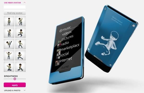 Zune HD personalizado con tu avatar de Xbox